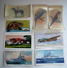 CIGARETTE CARDS X 8  TRANSFERS PLAYER WILLS HORNIMAN'S TEA - ANIMALS SHIPS