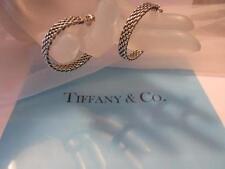 """Tiffany & Co. Hoop Sterling Silver Earrings 1.25"""""""