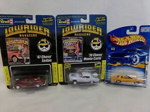 REVELL LOWRIDER MAGAZINE CARS 70 MONTE CARLO/47CHEVY SEDAN HOT WHEELS MONTEZOOMA