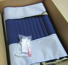 Acme U922P-123 Front Blue Cloth Bench Seat Upholstery for Willys Apr-73 Pickup