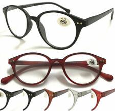 R107A Vintage Gafas de Lectura/Bisagras de muelle/Lente Redonda diseñado/extra value Pack