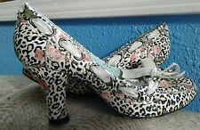 Rose Leopard pumps by IRREGULAR CHOICE size EU 36 US 5.5, hot London designer