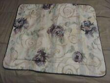 Croscill Chambord Cassis Set of 2 King  Pillow Shams Amethyst Rose Scroll USA 💜