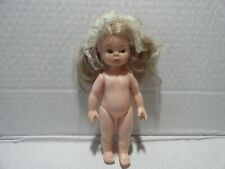 Old Vintage Plastic Doll 7 Inch No Clothes Marhed Hong Kong Blonde Hair