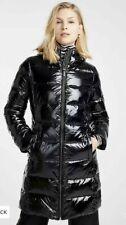 MICHAEL MICHAEL KORS WOMEN'S QUILTED PUFF BLACK SHINY LONG DOWN COAT SIZE M