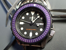 THE.SCANDI.ONE -PURPLE- SEIKO BEZEL INSERT F.SEIKO SKX007 W.LUMINOUS DOT Z-04-P