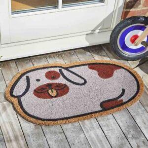 Fun Spotty Dog Coir Doormat Indoor Outdoor Door Mat 75 x 45cm Smart Garden