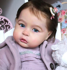 "B702 Lovely Reborn Baby Girl Doll 22"" Child Friendly Tailor Made"