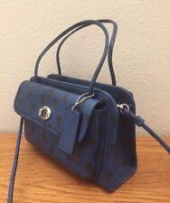 COACH CADY crossbody handbag in printed crossgrain leather F34471 Blue Badlands