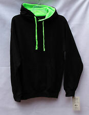 Women's Pacific & Co. Hoodie Black/Neon Green Size XL