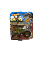 BONE SHAKER MONSTER JAM TRUCK 1/64 NEW 2018 W/ CONNECT AND CRASH CAR