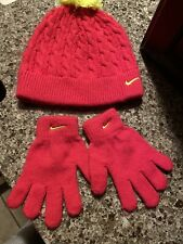 Girls Nike Hat And Gloves