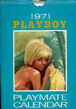 Vintage 1971 Playboy Calendrier calendar pinup playmate USA babes avec Pochette