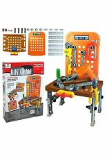 20 PCS KIDS TOY TOOL KIT PLAY SET POTABLE WITH ELECTRONIC DRILL