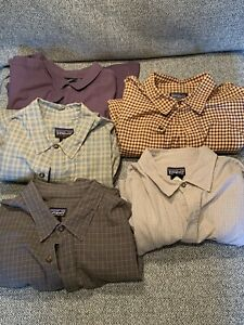 Men's Patagonia Long Sleeve Button Down Shirts, size XL, Lot of 5