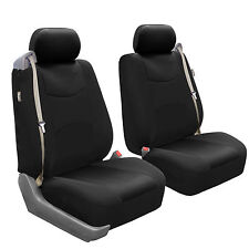 Car Seat Covers for integrated seat belts / built-in seat belt black Auto