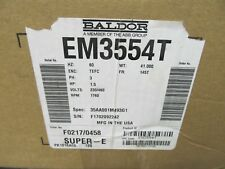 Motor, 1.5hp, 1760rpm, 60hz, TEFC, Frame 145T, 3ph, 230/460v, Baldor, EM3554T