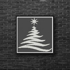 Silhouette Christmas Tree Holiday Any Color Counted Cross Stitch Pattern