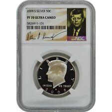2008-S John Kennedy Proof Silver Half Dollar Coin NGC PF70 UC Kennedy Signature