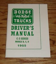1955 Dodge Truck Owners Operators Manual C-3 Series Models B C D 55