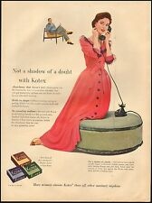 Vintage ad for Kotex` not a shadow of a doubt`Red Dress Pretty Model(101016)