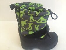 New Toddler Boys girls Size 5 winter snow boots removable liner Northside green