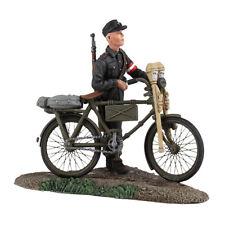 W Britain - World War II German Hitler Youth Pushing Bicycle No 1 25036 WWII
