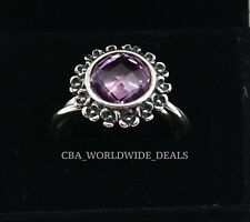 NEW Authentic PANDORA Floral Elegance Light Amethyst Ring 190850PAM Size 5.5 - 9