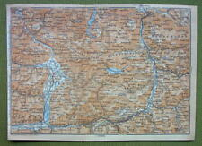 AUSTRIA Pinzgau Alps Lofer Golling & Environs - 1911 MAP ORIGINAL Baedeker