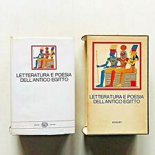 Letteratura e poesia dell'Antico Egitto Millenni Einaudi 1969 Edda Bresciani