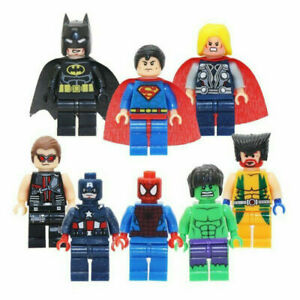 Marvel Averages Super Hero fitsLego Mini Figures Bundle End Game Batman Thor
