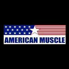"""""""AMERICAN MUSCLE"""" hot rod BUMPER STICKER Ford Chevy Dodge RACING DECAL rat car"""