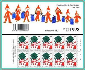 FINLAND 1993 CHRISTMAS booklet  SC#928a MNH CV$16.00 CHILDREN'S PAINTINGS