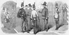 MILITARIA. Uniforms, Austrian troops in Lombardy, antique print, 1859