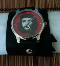 Che Guevara leather Watch wide band Women Men Fashion Naughty Artistic 100018