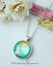 Vintage silver world map print Glass Dome travelers Pendant sweater necklace