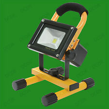 10W LED Portable IP65 Floodlight With Rechargeable Battery Garden Camping Work