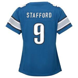 Matthew Stafford Detroit Lions Nike Home Blue Jersey Girls Youth (S-XL)