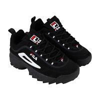 Fila Disruptor Ii FW01653-018 Mens Black Suede Casual Low Top Sneakers Shoes