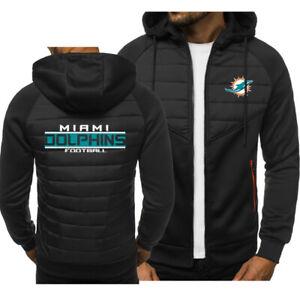 Miami Dolphins Fans Hoodie Classic Autumn Hooded Sweatshirt Jacket Coat Top Tops