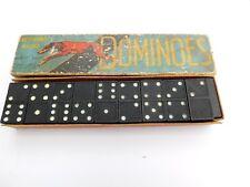 VINTAGE DOMINOES SET GREYHOUND BRAND BY SPEARS GAMES