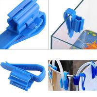 Plastic Aquarium Tank Water Pipe Clamp Hose Tube Rod Fixing Clip Mount Holde