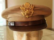 WW II US ARMY/AAF OFFICER'S KHAKI HAT LARGE EAGLE