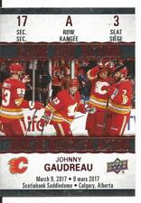 17-18 Johnny Gaudreau Game Day Action Tim Hortons Canada Insert Card #GDA-3 Mint