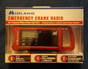 Midland Weather Alert Compact Emergency Crank Radio ER200 New in Package