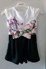 Designer TED BAKER Girls Floral Romper / Playsuit  Size 5-6 Years / EUR 116