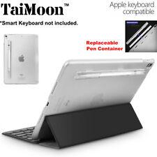"F iPad Pro 10.5"" Matte Clear Back Case Support Smart Keyboard Cover w/Pen Holder"