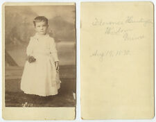 1890 CAB PHOTO PORTRAIT OF FLORENCE HUNTINGTON WINDOM MIMS IDED ON BACK