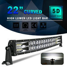 Curved 22inch 1580W 5D LED Light Bar Spot Flood Offroad Driving Truck 4WD RZR 20