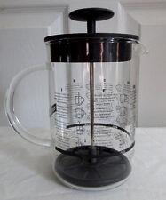 Bodum Latteo 8 OZ Glas Milch Aufschäumer Glas Griff schwarz Deckel Multi Language